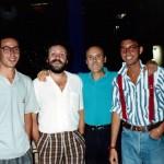 Luciano Capponi con la troupe di Incredibile, RaiDue 1988