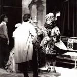 Luciano Capponi con Pino Ammendola durante la regia della trasmissione Stranieri d'Italia, RaiTre 1981