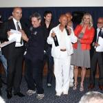 Luciano Capponi ed il cast di Butterfly Zone durante la consegna del primo premio al XXIX Fantafestival di Roma