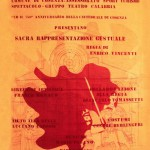 Locandina Sacra Rappresentazione Gestuale 1974