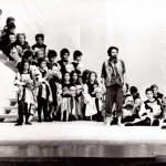 Una scena dello spettacolo teatrale Stato d'Assedio 1972-1975